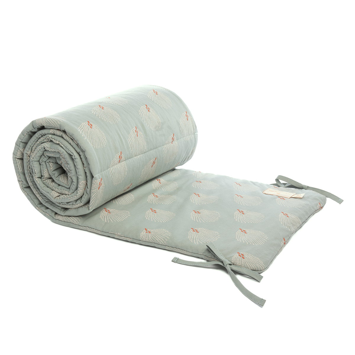 Linge de lit Tour de Lit Nest - White Gatsby & Antique Green