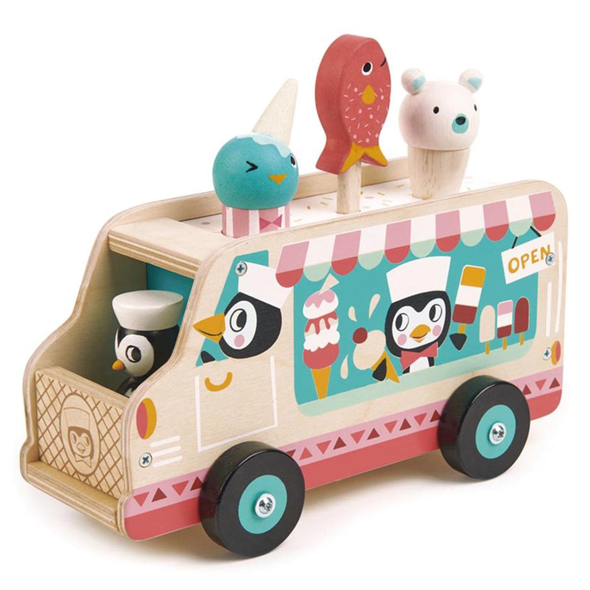 Mes premiers jouets Le Chariot de Crème Glacée des Pingouins Tender Leaf Toys - AR202001280107