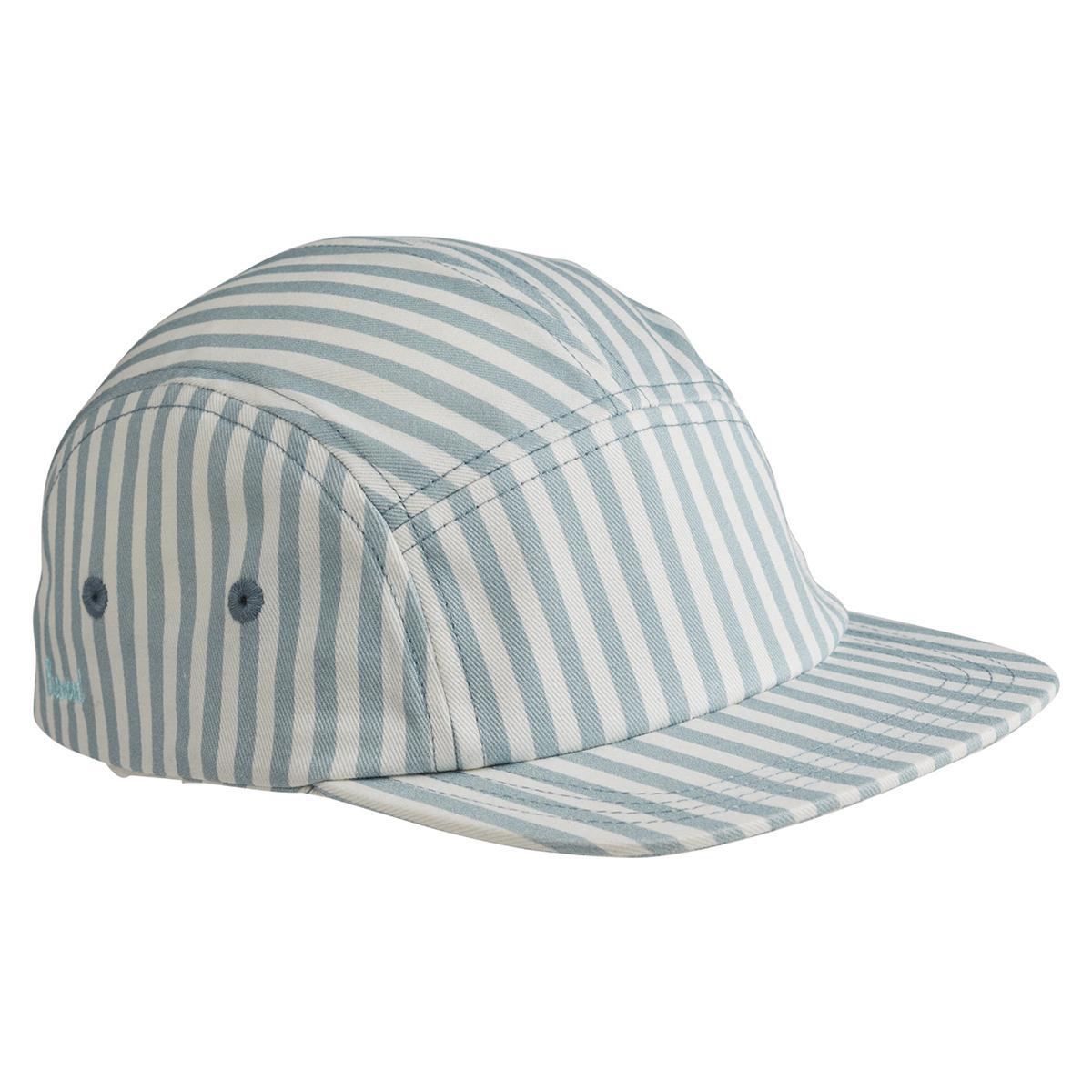 Accessoires bébé Casquette Rory Stripe Sea Blue & White - 1/2 Ans