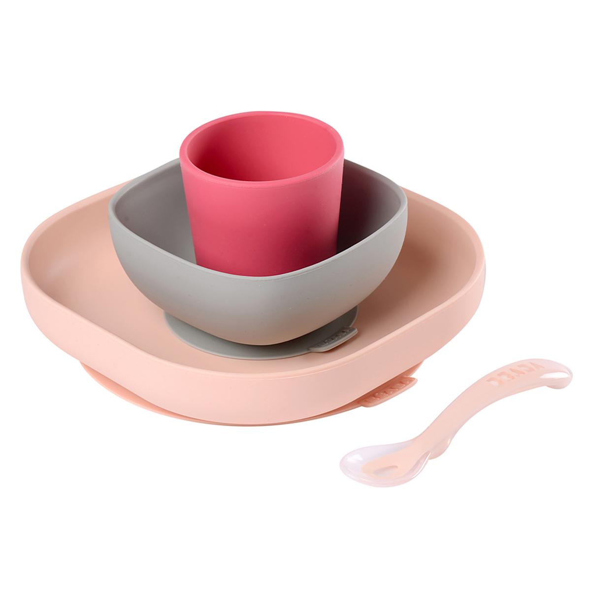 Coffret repas Set de Vaisselle 4 Pièces - Pink BÉABA - AR201806260187