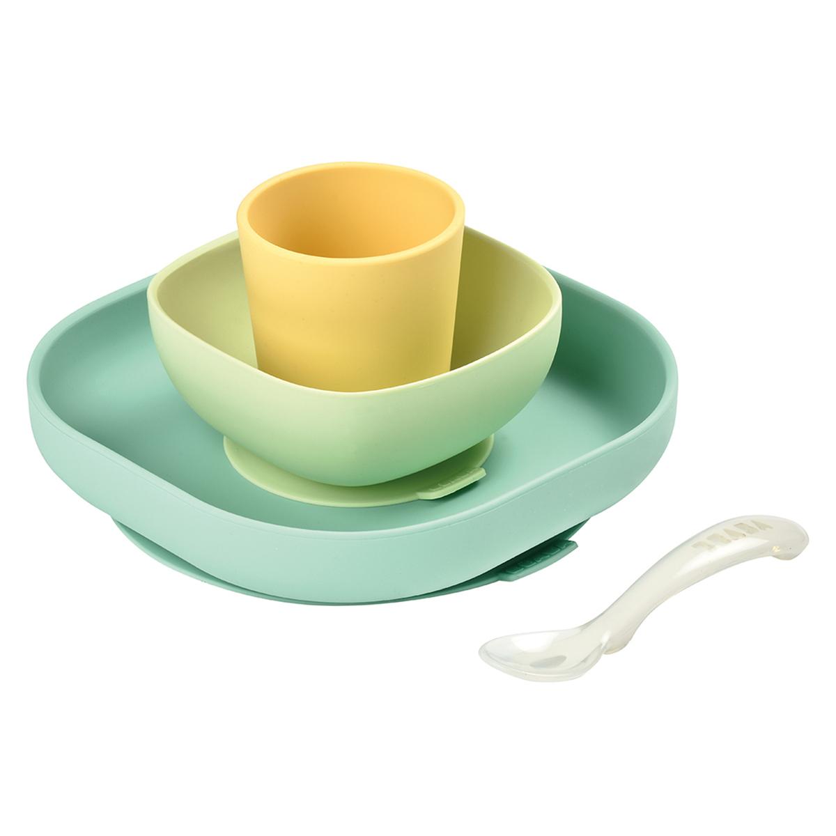 Coffret repas Set de Vaisselle 4 Pièces - Yellow Set de Vaisselle 4 Pièces - Yellow