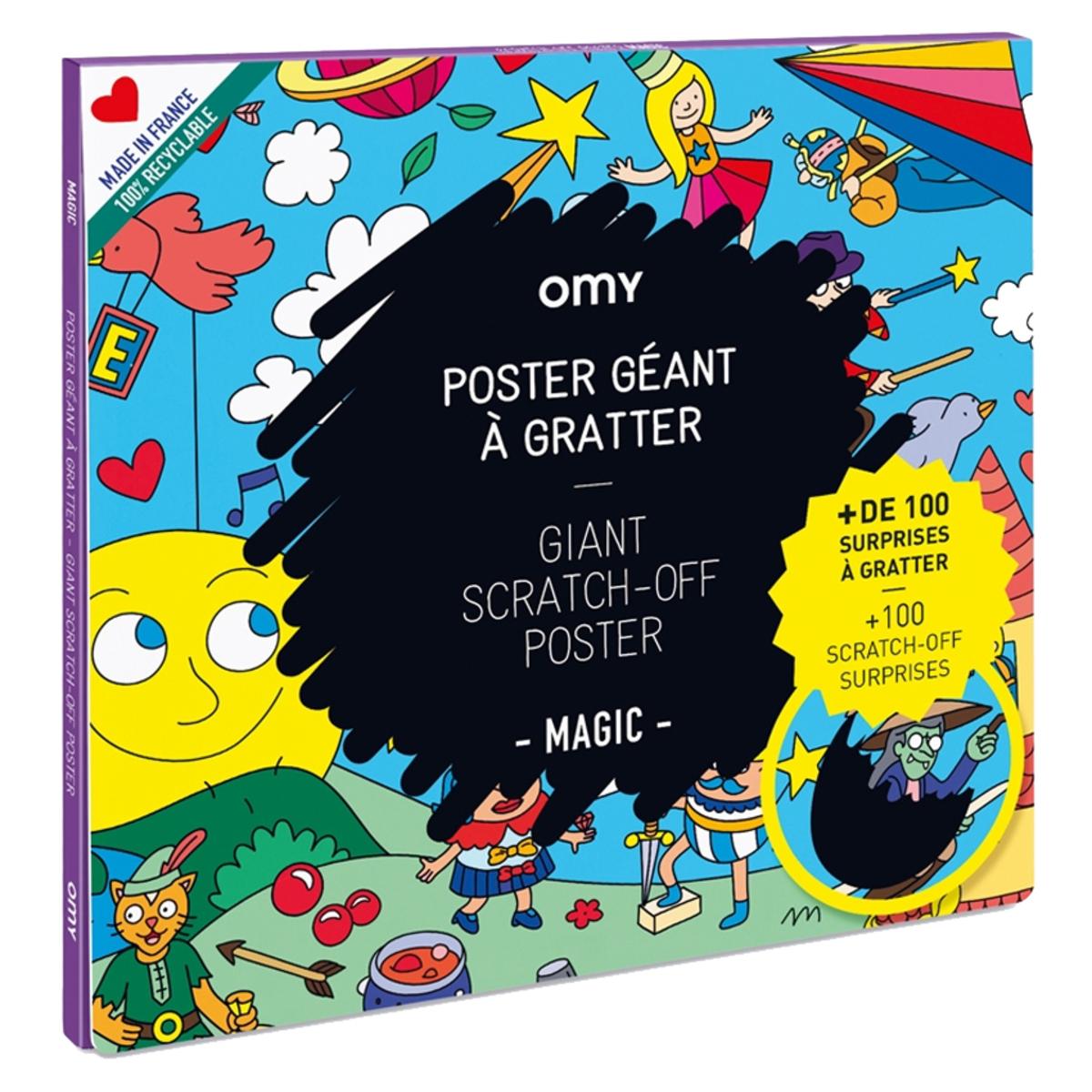 Livre & Carte Poster Géant à Gratter - Magic Poster Géant à Gratter - Magic