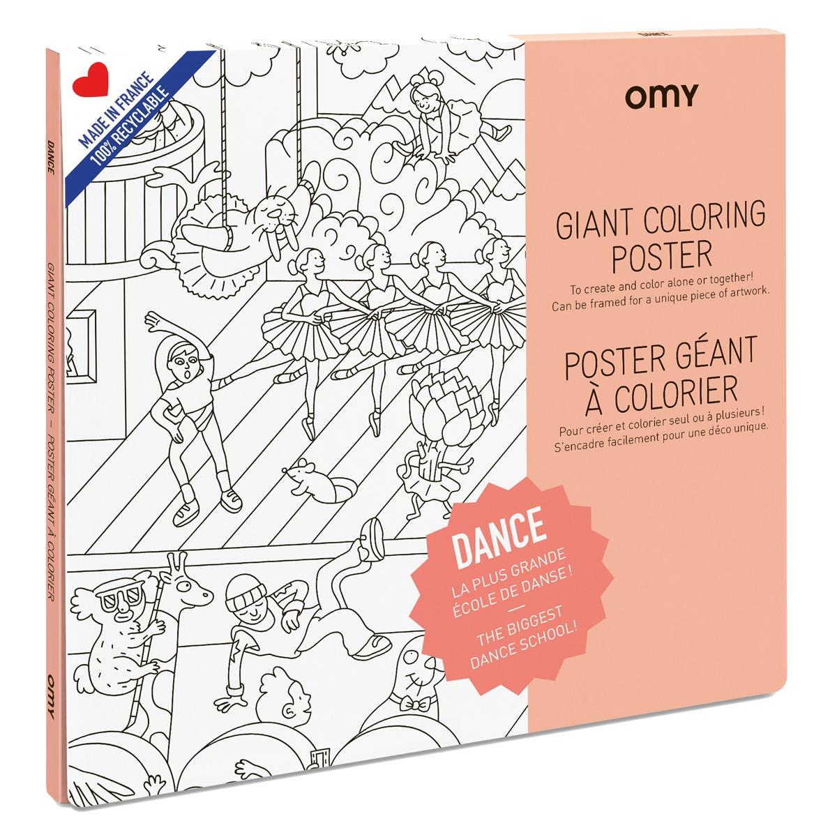Livre & Carte Poster à Colorier - Dance Poster à Colorier - Dance