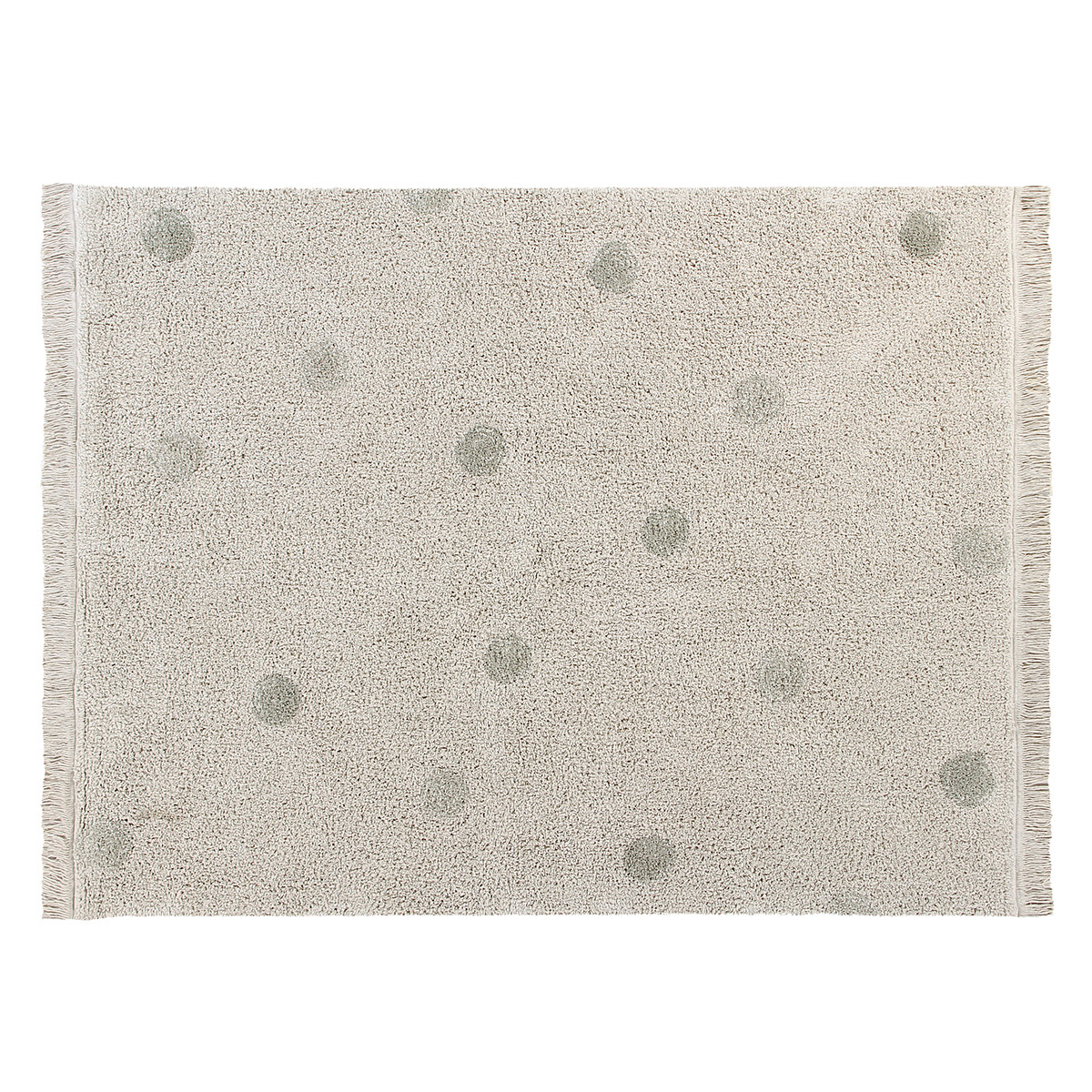 Tapis Tapis Lavable Hippy Dots Naturel et Olive - 120 x 160 cm Tapis Lavable Hippy Dots Naturel et Olive - 120 x 160 cm