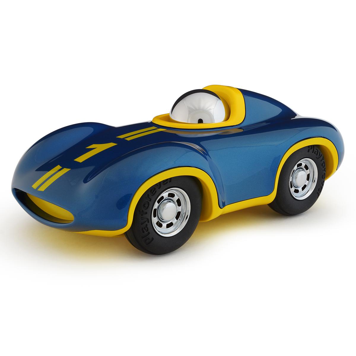 Mes premiers jouets Voiture Speedy Le Mans - Bleu Roi et Jaune Voiture Speedy Le Mans - Bleu Roi et Jaune