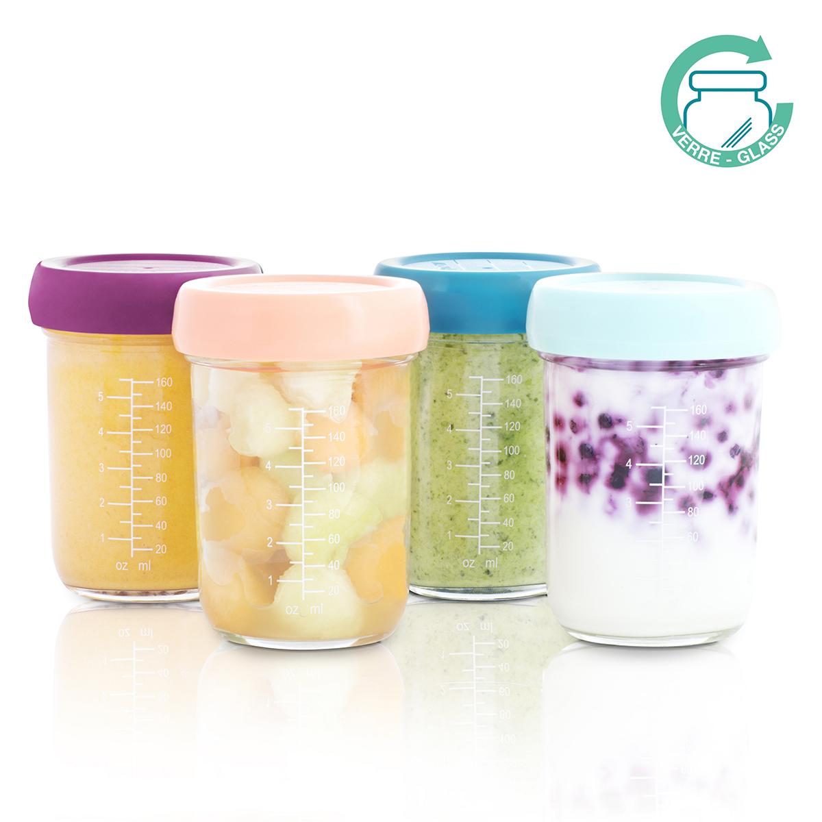Vaisselle & Couvert Lot de 4 Babybols en Verre 240 ml - Multicolore Lot de 4 Babybols en Verre 240 ml - Multicolore