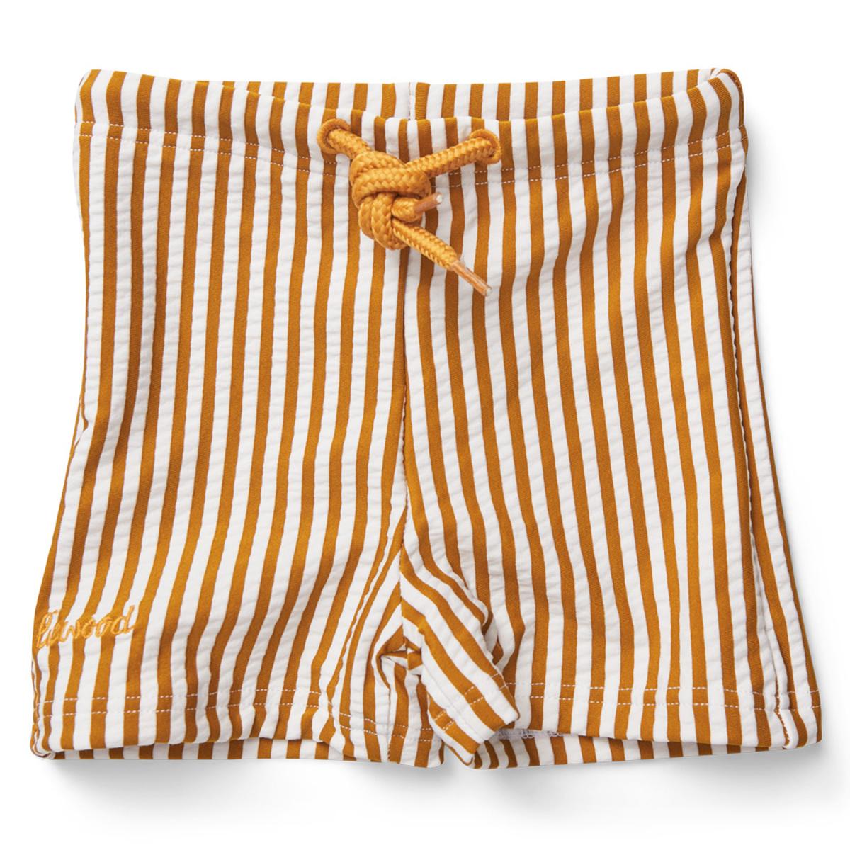 Accessoires bébé Short de Bain Otto Rayé Moutarde et Blanc - 18/36 Mois Short de Bain Otto Rayé Moutarde et Blanc - 18/36 Mois