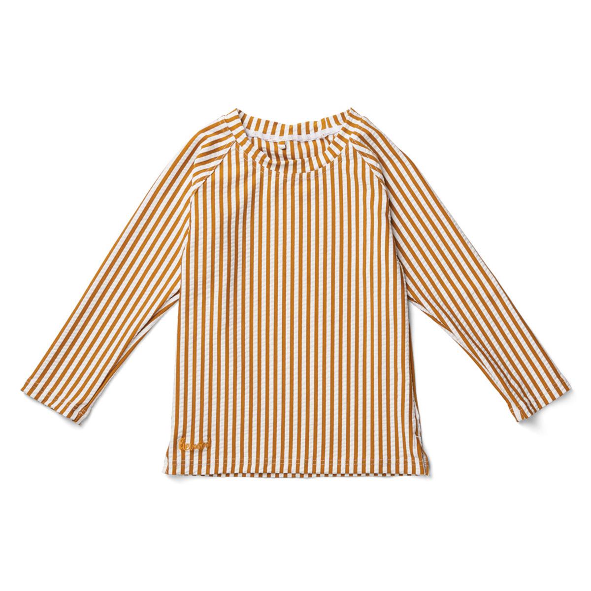 Accessoires bébé Tee-Shirt Noah Rayé Moutarde et Blanc - 3/9 Mois Tee-Shirt Noah Rayé Moutarde et Blanc - 3/9 Mois