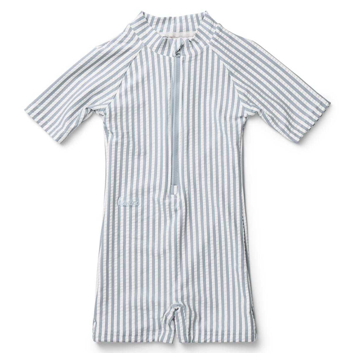 Accessoires bébé Combishort de Bain Max Rayé Bleu et Blanc - 18/36 Mois Combishort de Bain Max Rayé Bleu et Blanc - 18/36 Mois
