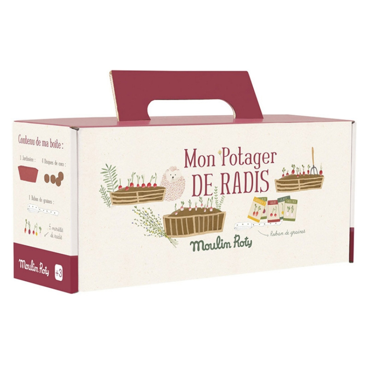 Mes premiers jouets Kit Jardinière Radis - Le Jardin Du Moulin Kit Jardinière Radis - Le Jardin Du Moulin