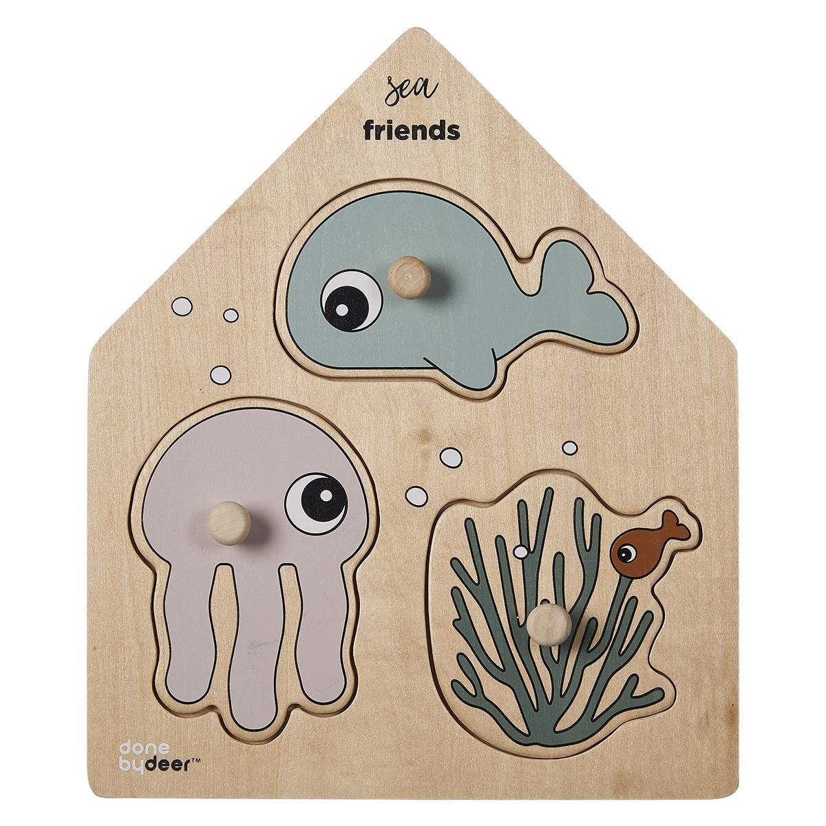 Mes premiers jouets Puzzle Encastrable Sea friends Puzzle Encastrable Sea friends