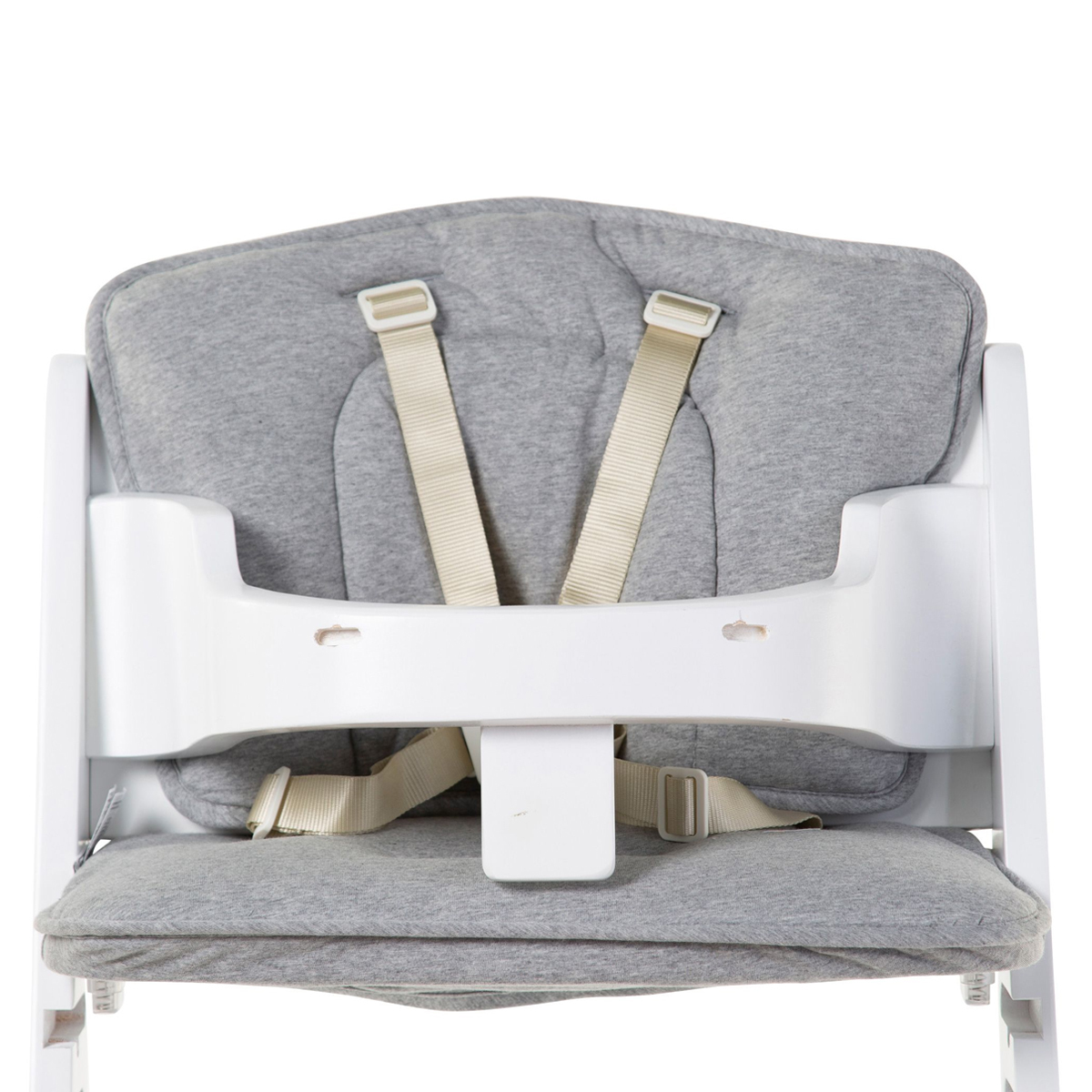 Chaise haute Coussin de Chaise Haute Kitgrow Jersey - Gris Chiné Coussin de Chaise Haute Kitgrow Jersey - Gris Chiné