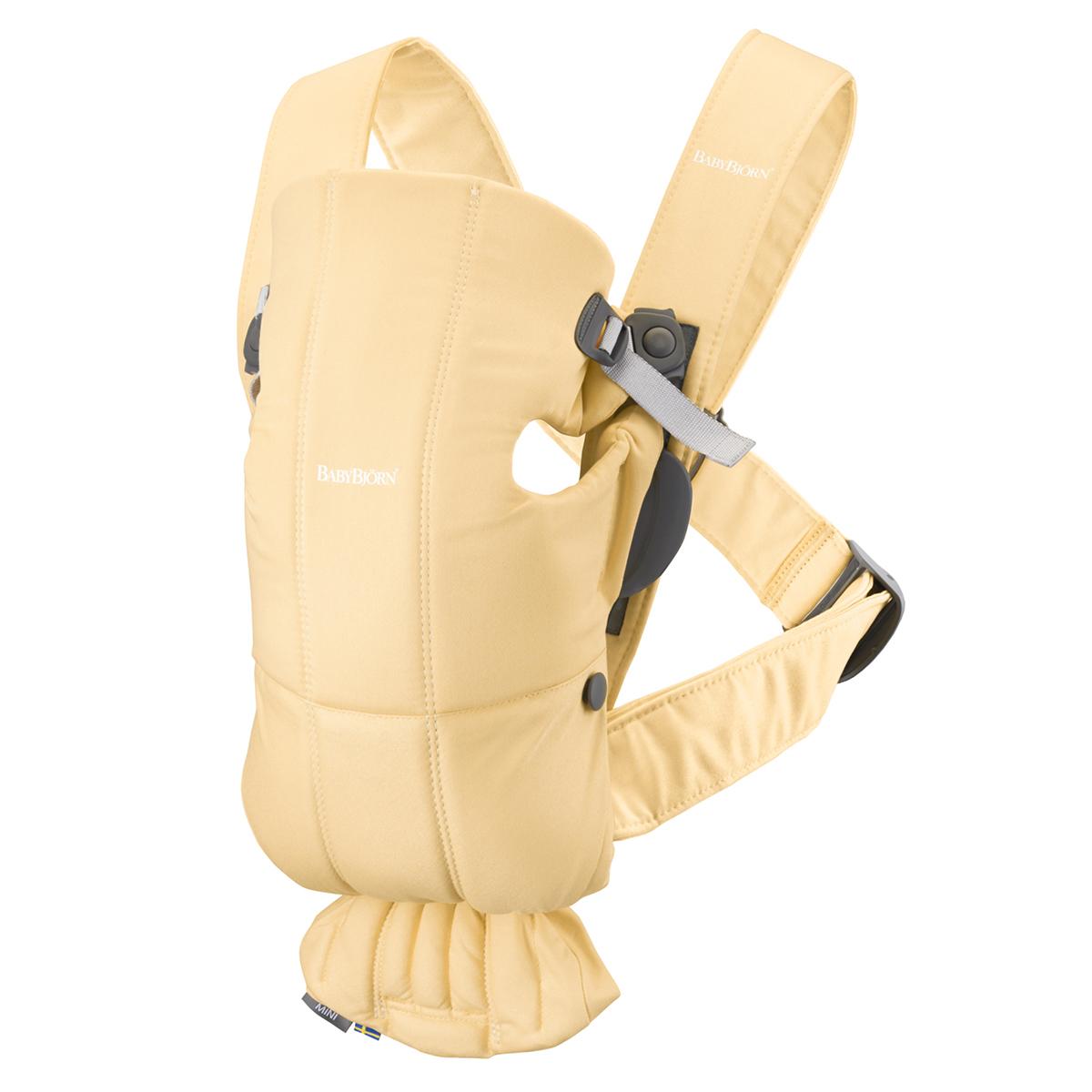 Porte bébé Porte-bébé Mini 3D Coton - Jaune Clair Porte-bébé Mini 3D Coton - Jaune Clair