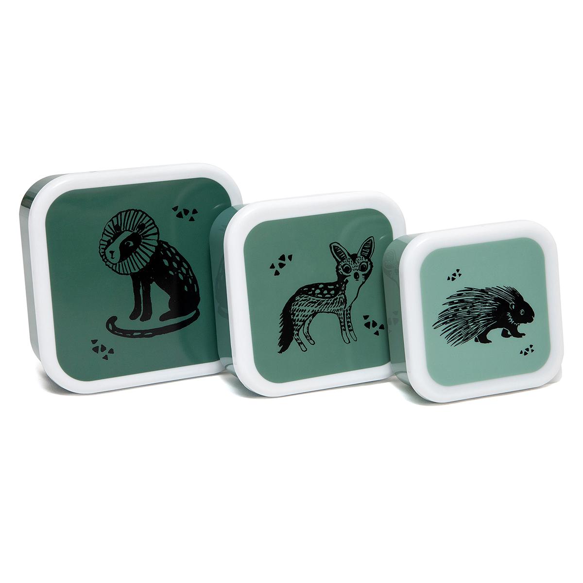 Vaisselle & Couvert Lot de 3 Boîtes à Goûter Gigognes - Animaux Lot de 3 Boîtes à Goûter Gigognes - Animaux