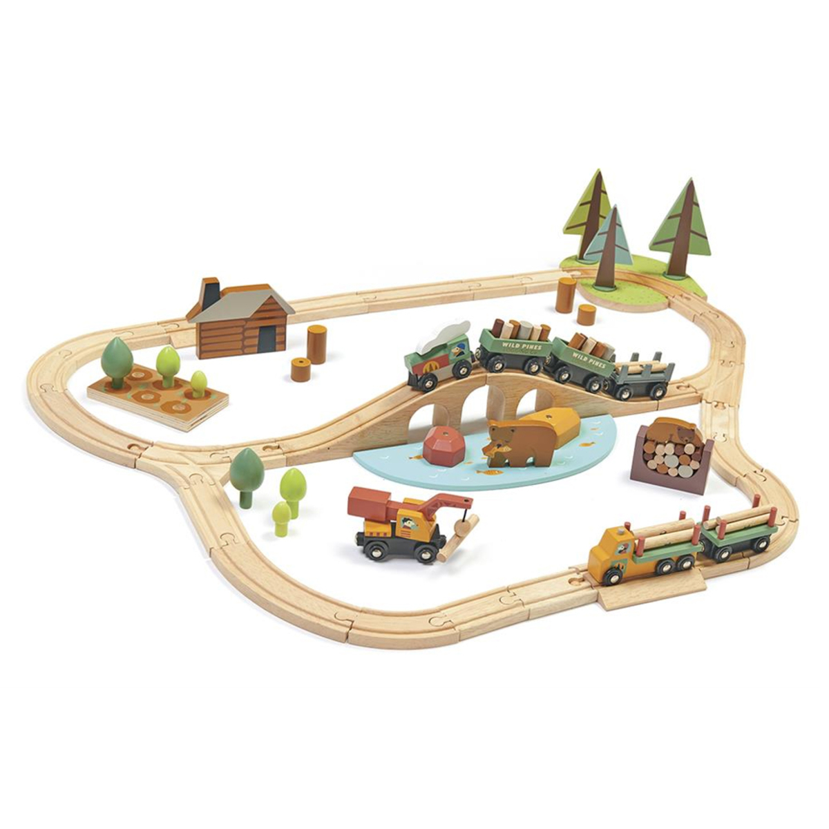 Mes premiers jouets Set de Train Pins Sauvages Set de Train Pins Sauvages