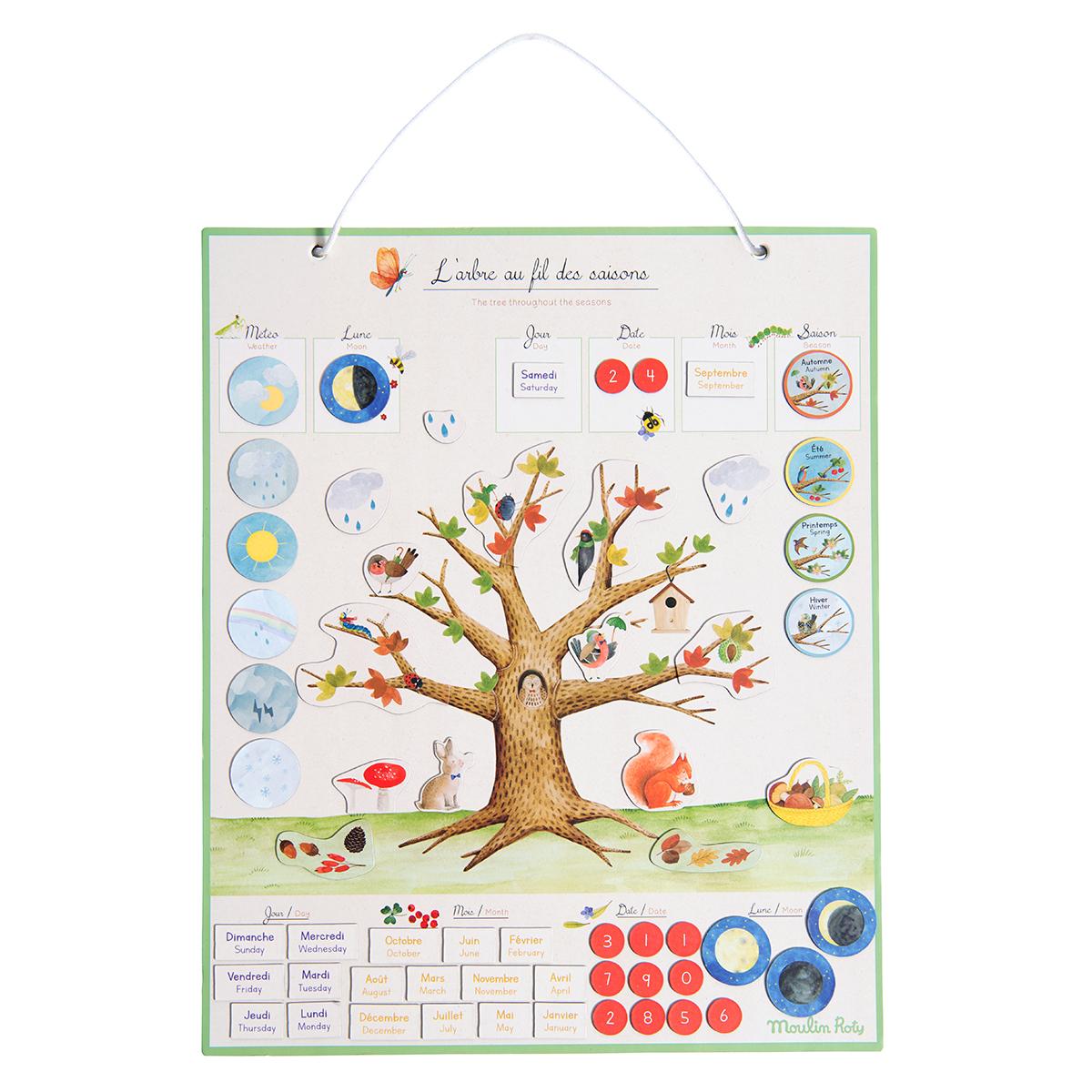 Livre & Carte Calendrier Magnétique des Saisons - Le Jardin du Moulin Calendrier Magnétique des Saisons - Le Jardin du Moulin