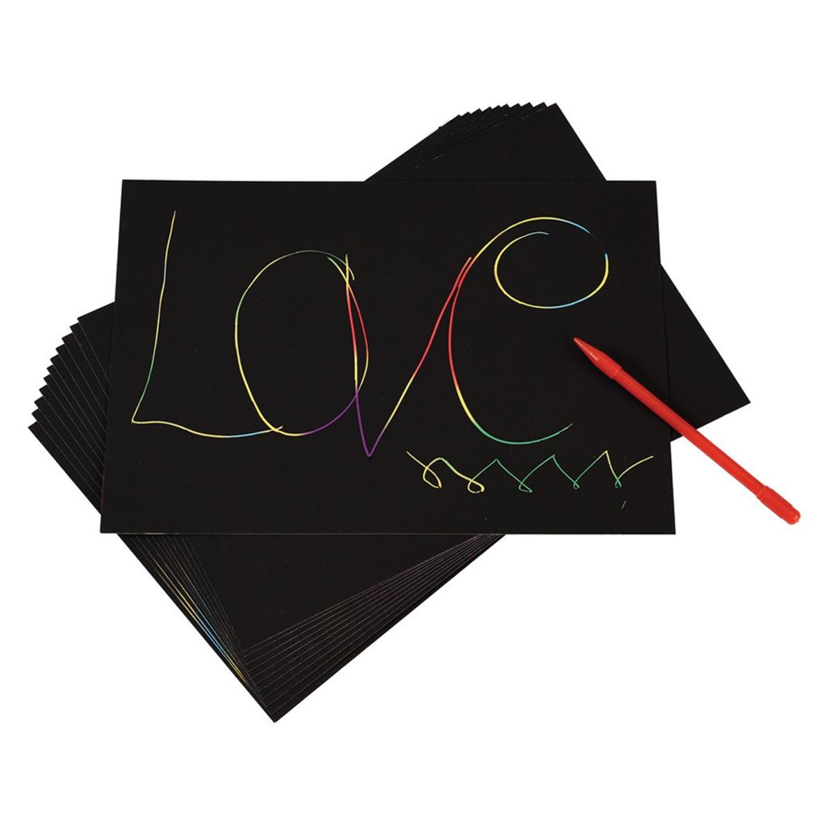 Livre & Carte Kit Papier à Gratter Arc-en-Ciel Kit Papier à Gratter Arc-en-Ciel