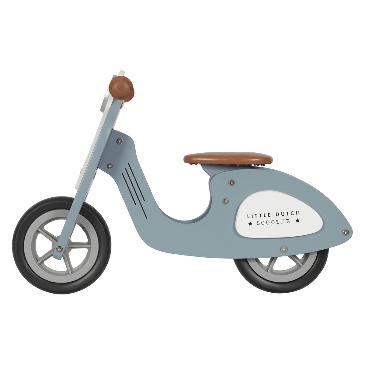 Trotteur & Porteur Draisienne Scooter en Bois - Bleu Draisienne Scooter en Bois - Bleu