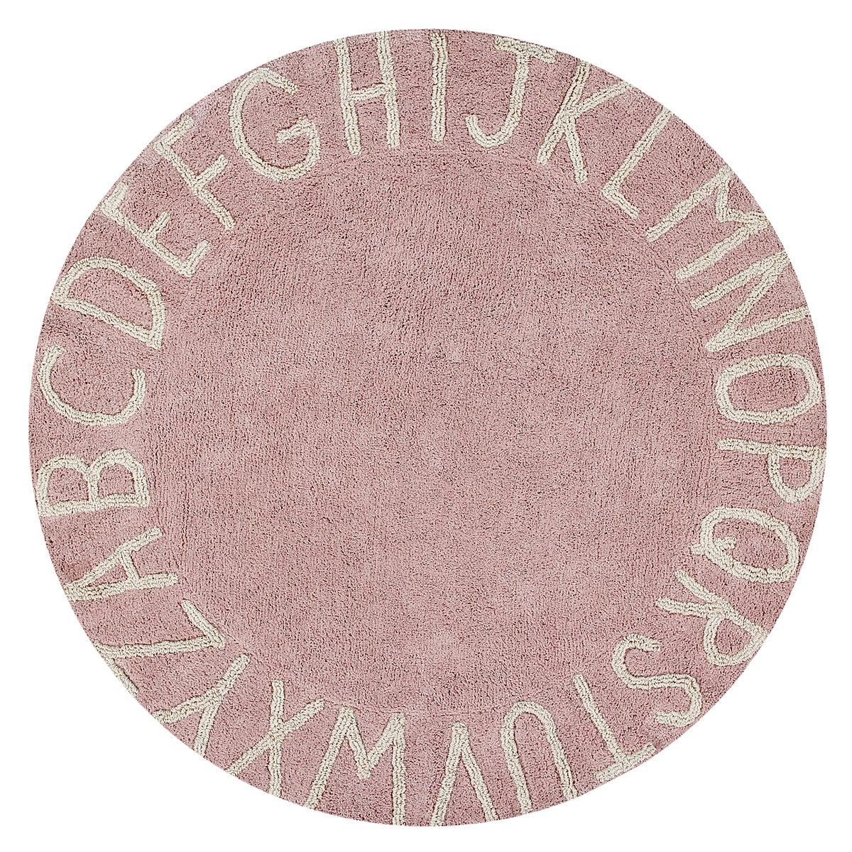 Tapis Tapis Lavable ABC Rose et Blanc - Ø 150 cm Tapis Lavable ABC Rose et Blanc - Ø 150 cm
