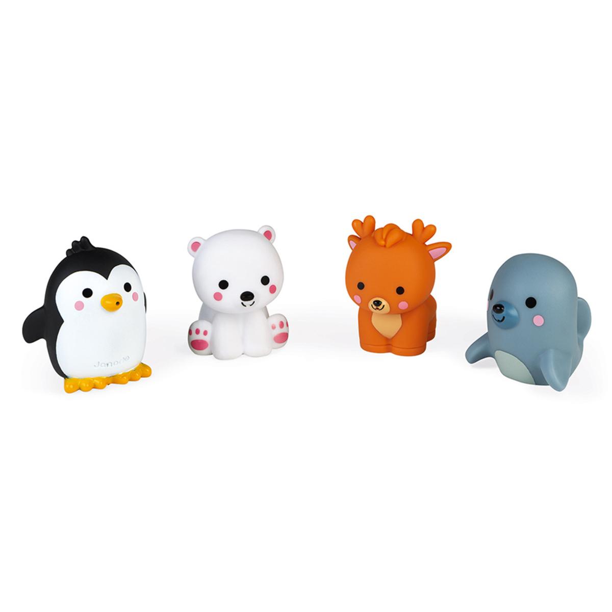 Mes premiers jouets Lot de 4 Gicleurs de Bain - Les Animaux Polaires Lot de 4 Gicleurs de Bain - Les Animaux Polaires