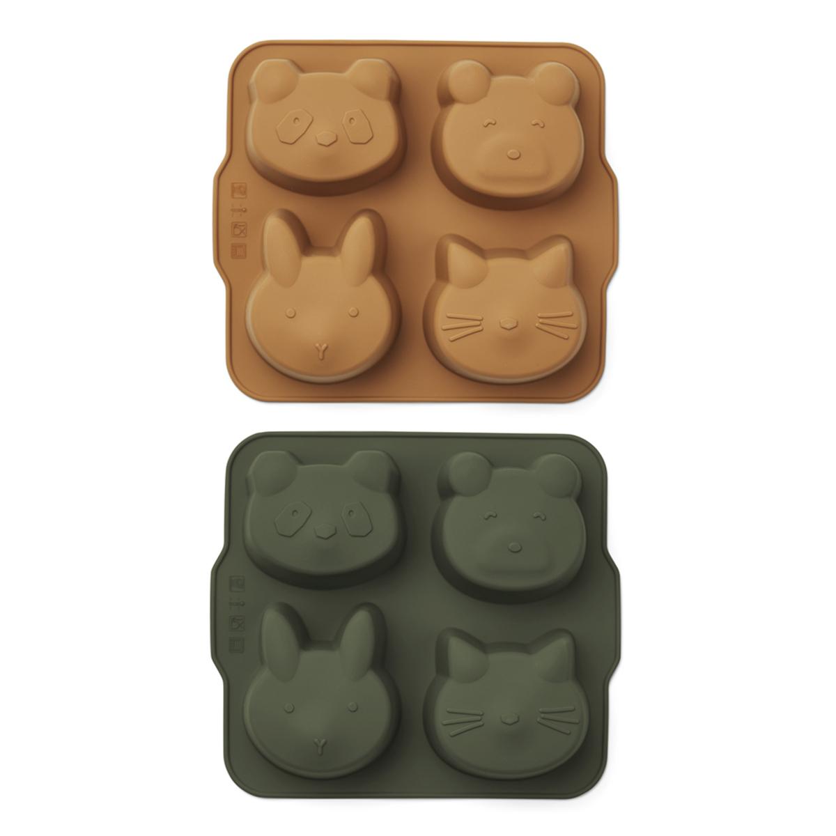 Vaisselle & Couvert Lot de 2 Mini Moules à Gâteau Mariam - Hunter Green & Mustard Lot de 2 Mini Moules à Gâteau Mariam - Hunter Green & Mustard