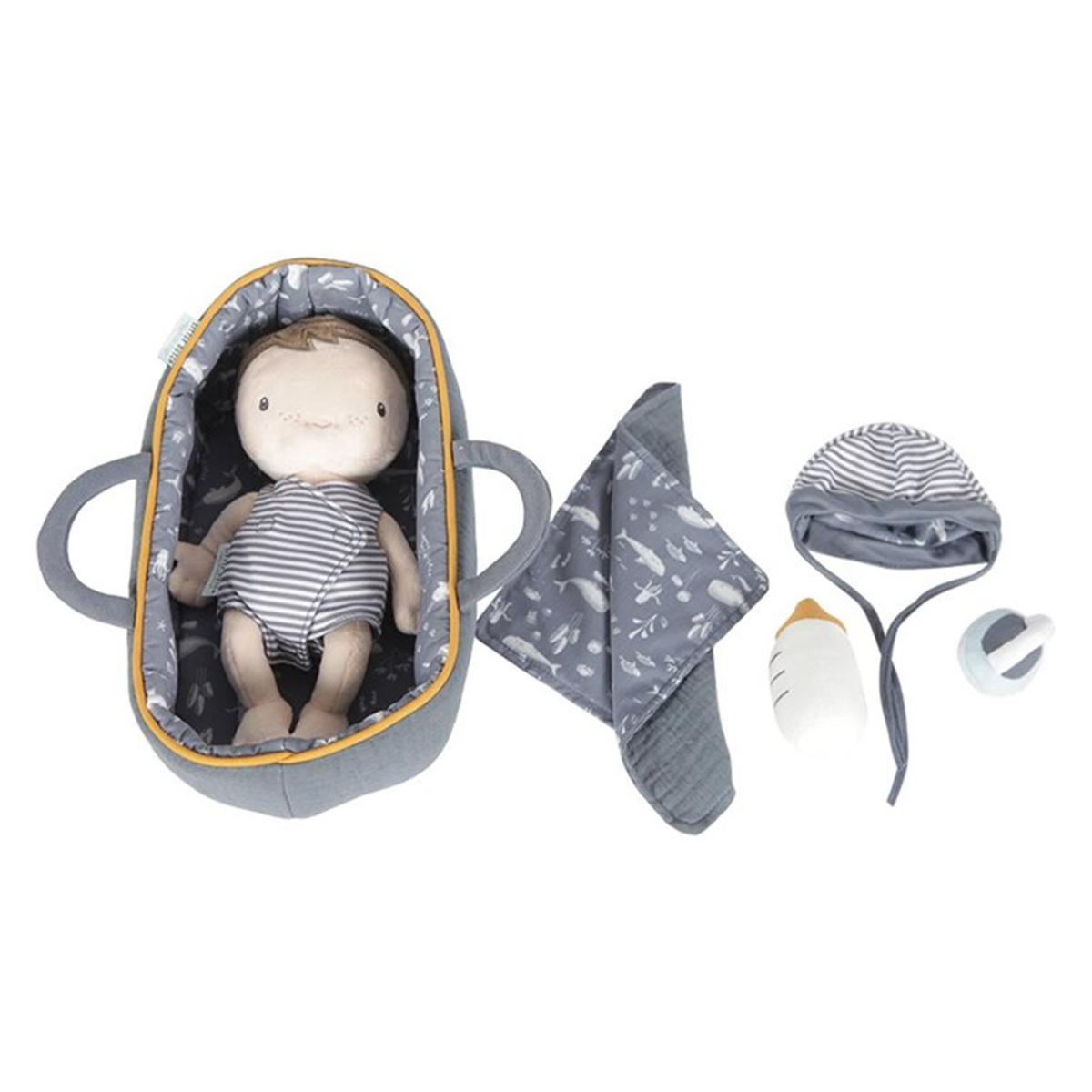 Mes premiers jouets Set Couffin et Poupon Bébé Jim Set Couffin et Poupon Bébé Jim