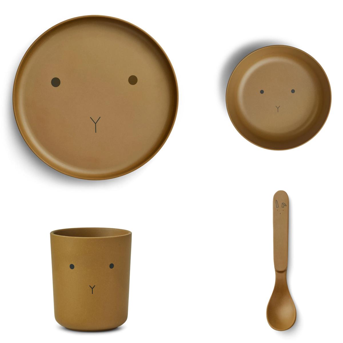 Coffret repas Set de Vaisselle 4 Pièces - Rabbit Olive Green Set de Vaisselle 4 Pièces - Rabbit Olive Green