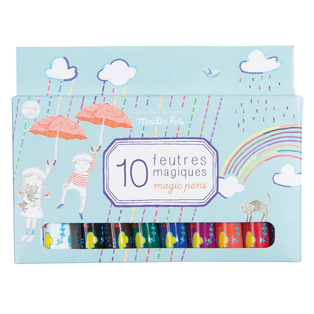 Livre & Carte Boîte de 10 Feutres Magiques - Aujourd'hui c'est Mercredi Boîte de 10 Feutres Magiques - Aujourd'hui c'est Mercredi