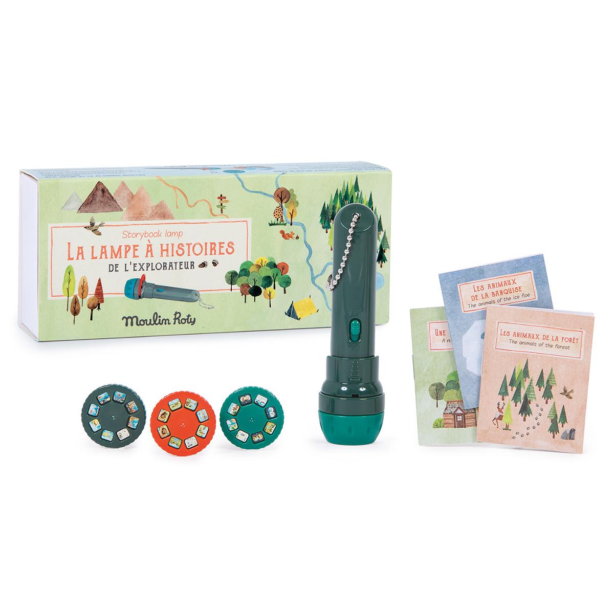 Mes premiers jouets Lampe à Histoires de l'Explorateur - Le Jardin du Moulin Lampe à Histoires de l'Explorateur - Le Jardin du Moulin