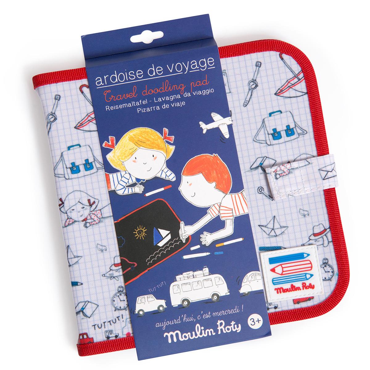 Mes premiers jouets Ardoise de Voyage - Aujourd'hui c'est Mercredi Ardoise de Voyage - Aujourd'hui c'est Mercredi