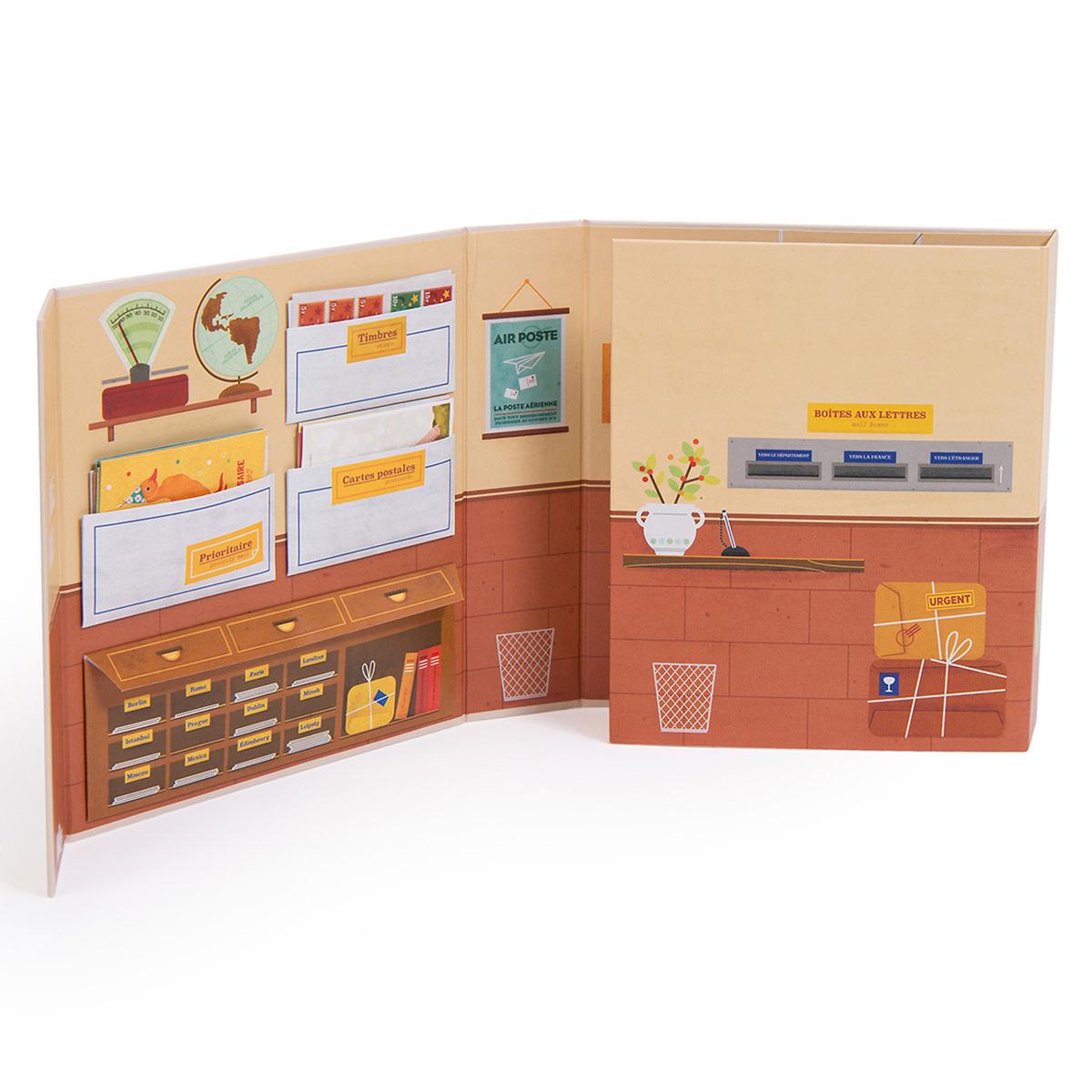 bureau de poste bois jouet