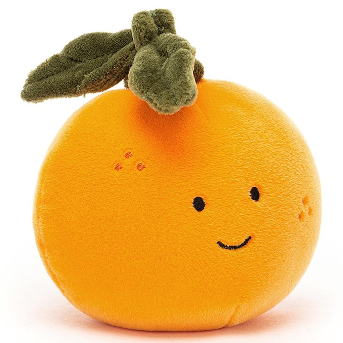 Peluche Fabulous Fruit Orange - Small Peluche Orange 9 cm