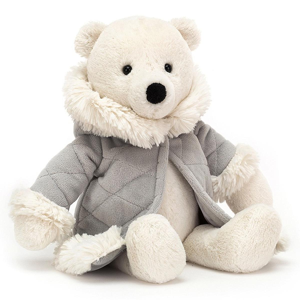 Peluche Parkie Polar Bear Peluche Ours Polaire 26 cm