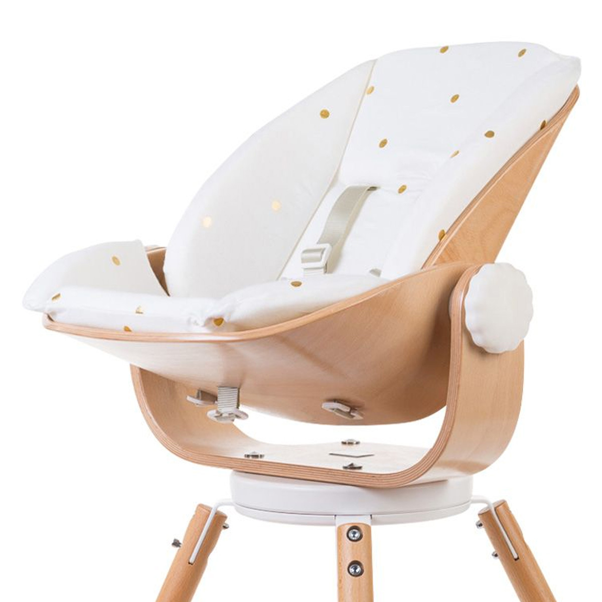 Chaise haute Coussin Evolu Newborn Jersey - Gold Dots Coussin pour Siège Evolu Newborn Jersey - Gold Dots
