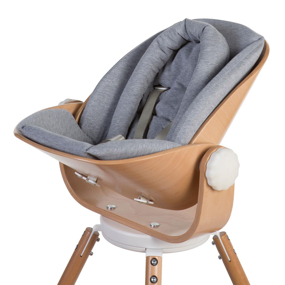 Chaise haute Coussin Evolu Newborn Jersey - Gris Coussin pour Siège Evolu Newborn Jersey - Gris