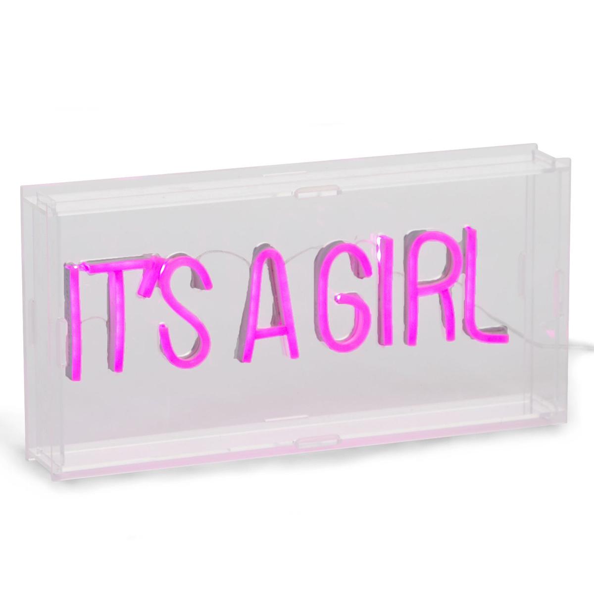 Lampe à poser Lampe Néon It's A Girl Lampe Néon It's A Girl