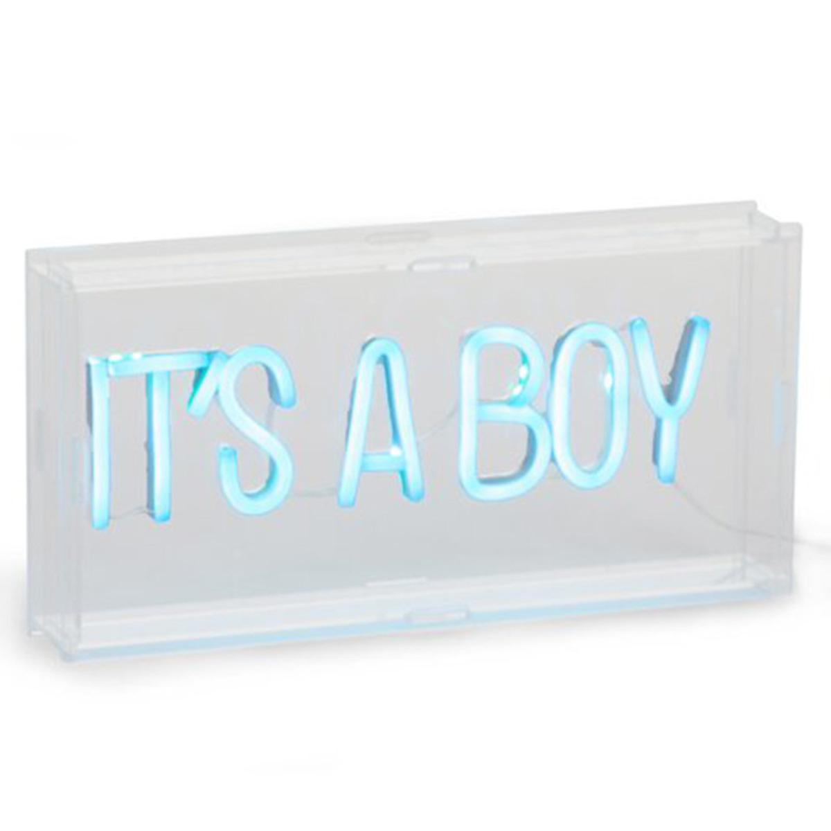 Lampe à poser Lampe Néon It's A Boy Lampe Néon It's A Boy