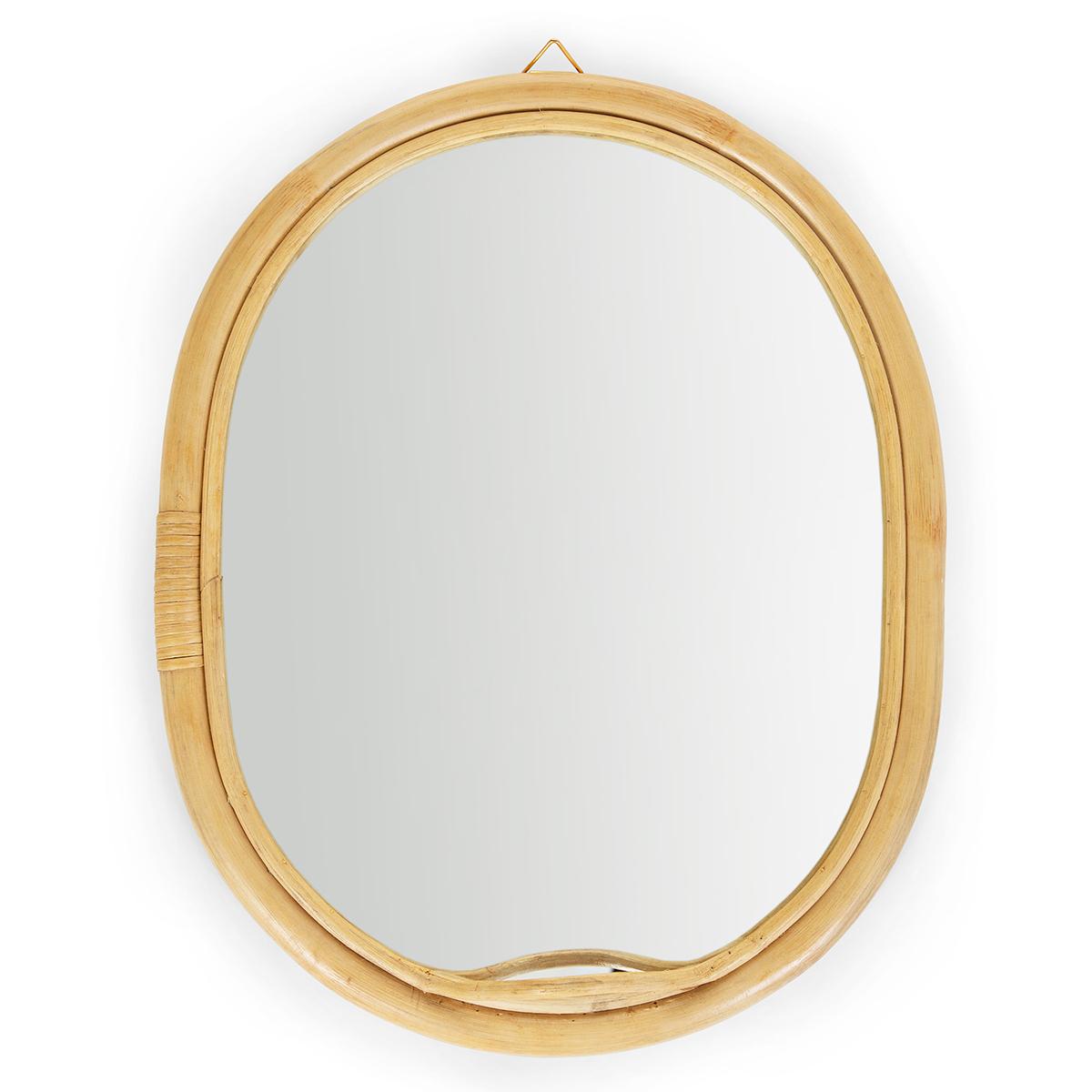 Miroir Miroir Ovale en Rotin Miroir Ovale en Rotin