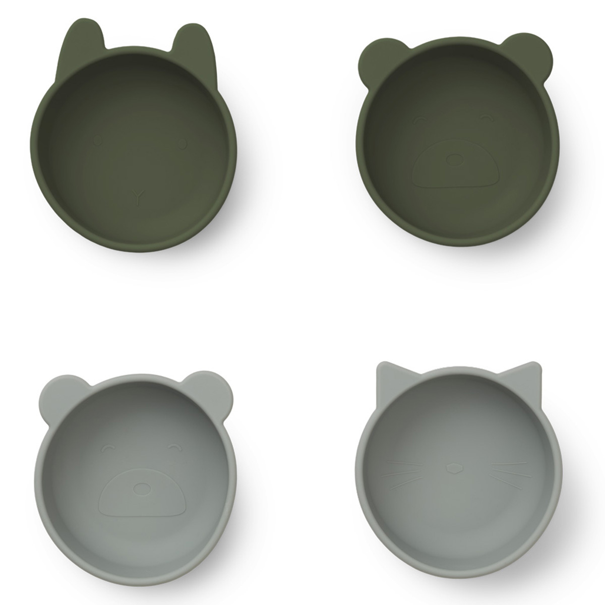 Vaisselle & Couvert Lot de 4 Bols en Silicone Iggy - Hunter Green Mix Lot de 4 Bols en Silicone Iggy - Hunter Green Mix