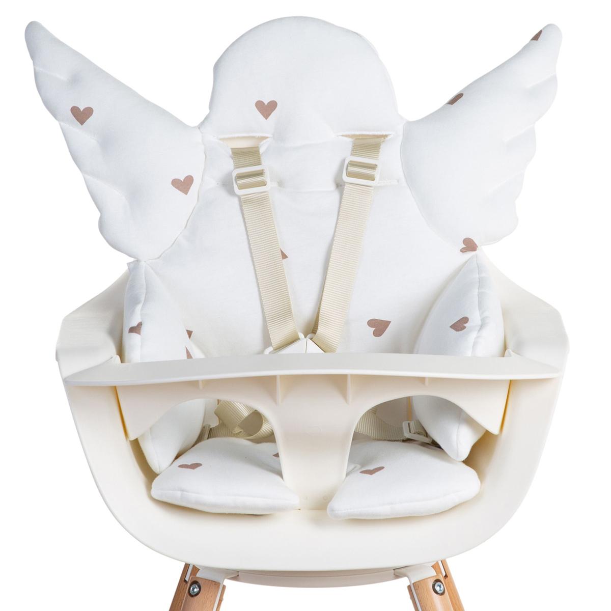 Chaise haute Coussin de Chaise Haute Ange Jersey - Hearts Coussin de Chaise Haute Ange Jersey - Hearts