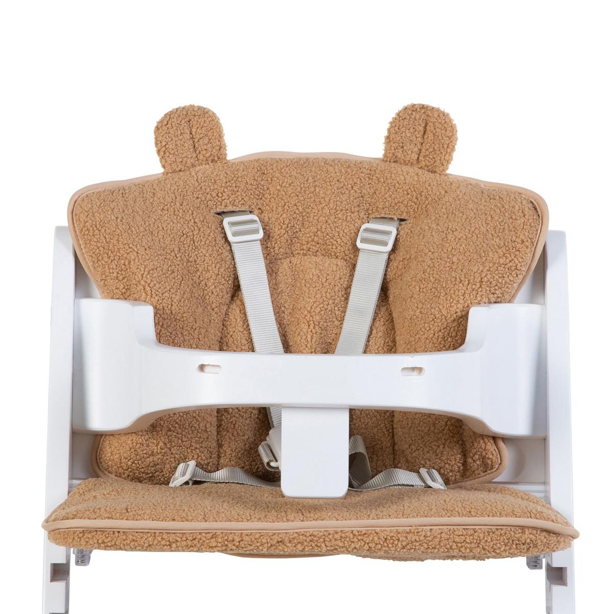 Chaise haute Coussin de Chaise Haute Evolutive Teddy - Beige Coussin de Chaise Haute Evolutive Teddy - Beige