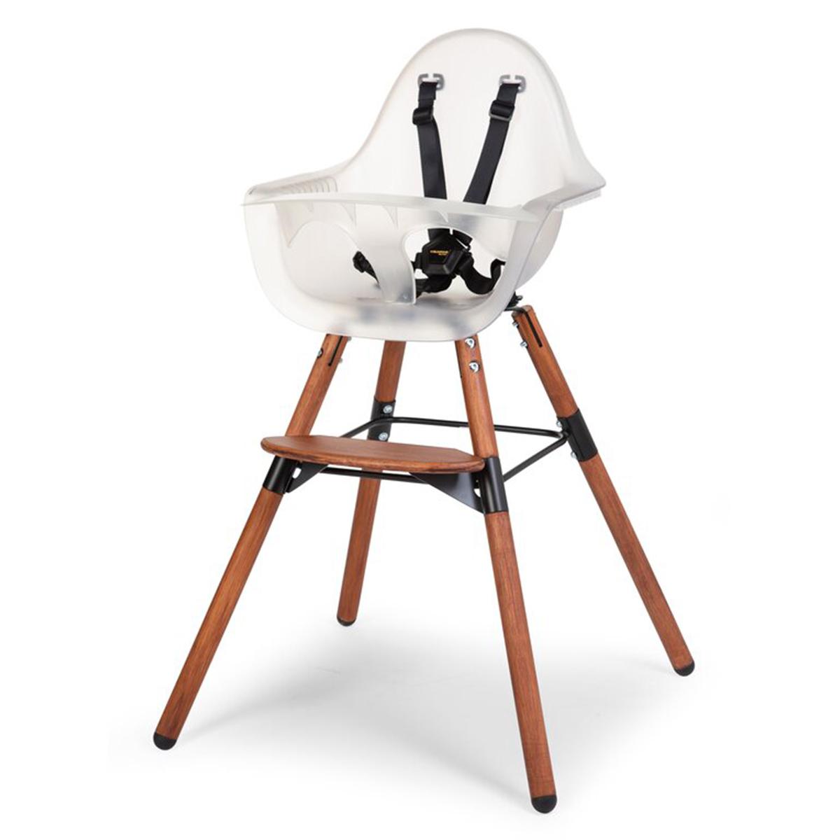 Chaise haute Chaise Haute Evolu 2 - Naturel Foncé et Frosted Chaise Haute Evolu 2 - Naturel Foncé et Frosted