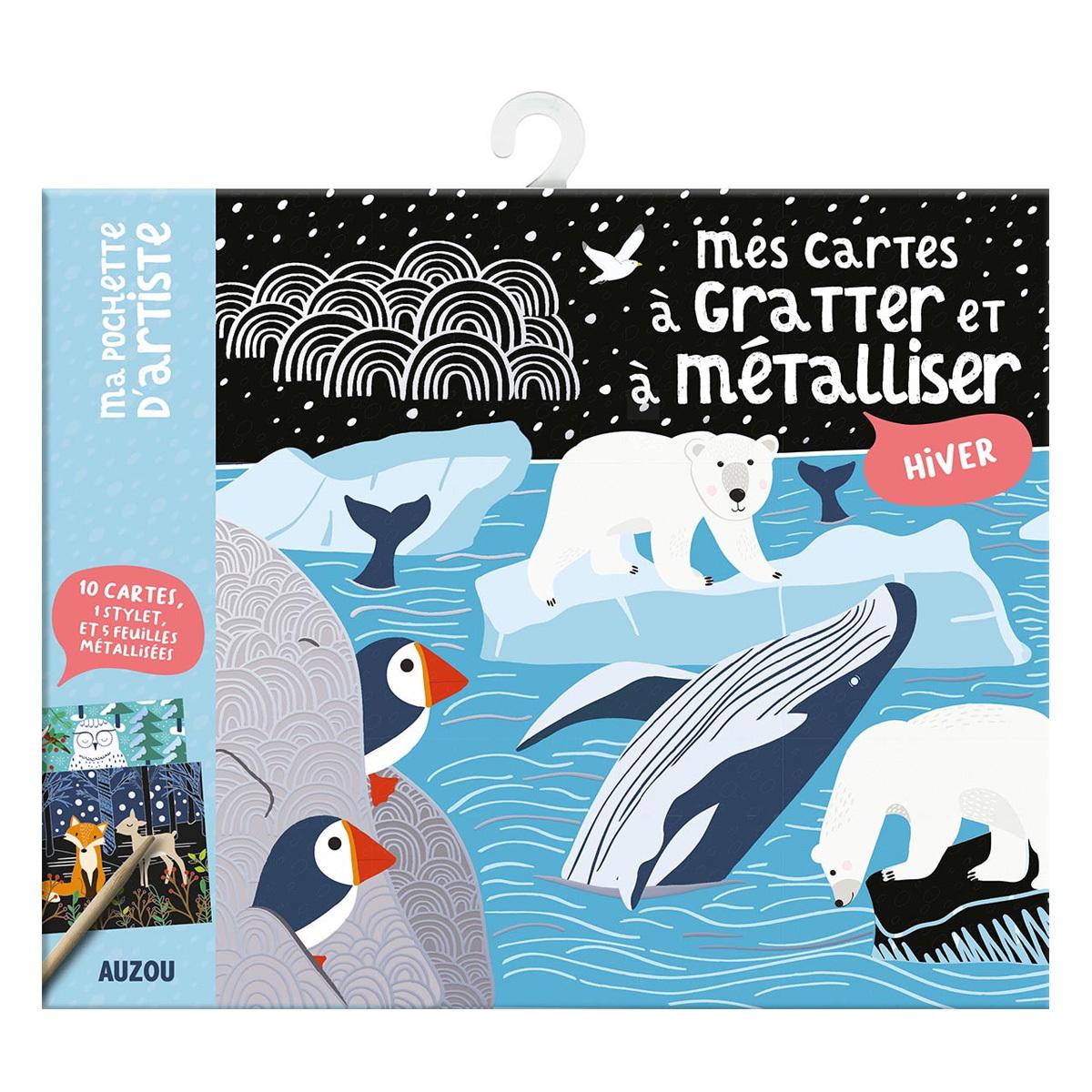 Livre & Carte Mes Cartes à Gratter et à Métalliser - Hiver Mes Cartes à Gratter et à Métalliser - Hiver