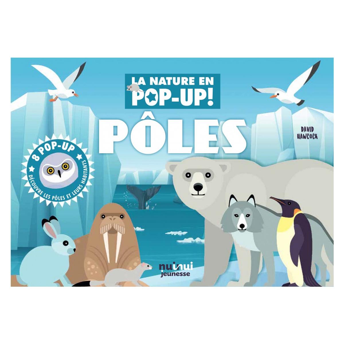 Livre & Carte Pôles Collection Nature - Pop-up