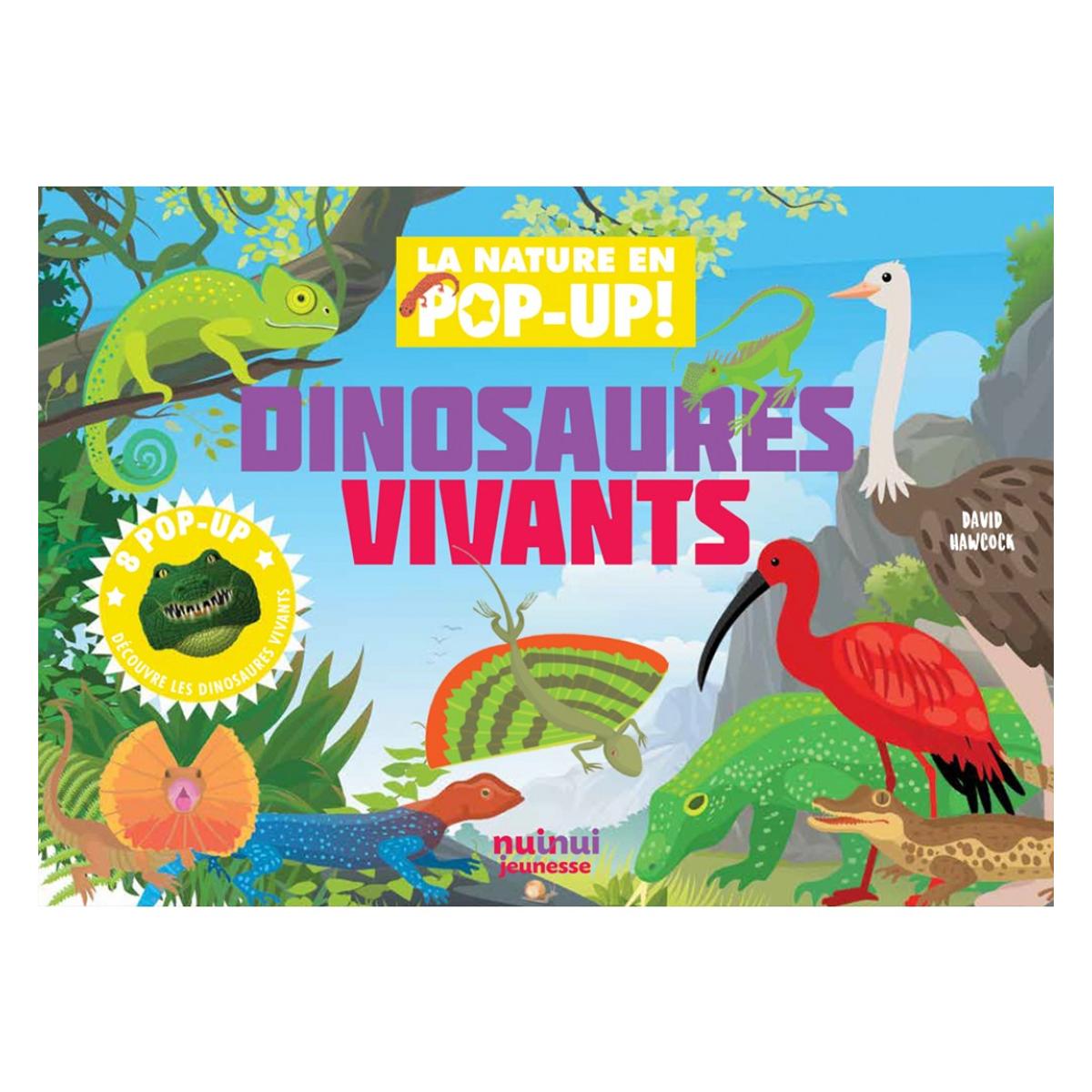 Livre & Carte Dinosaures Vivants Collection Nature - Pop-up