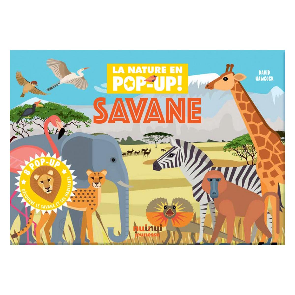 Livre & Carte Savane Collection Nature - Pop-up
