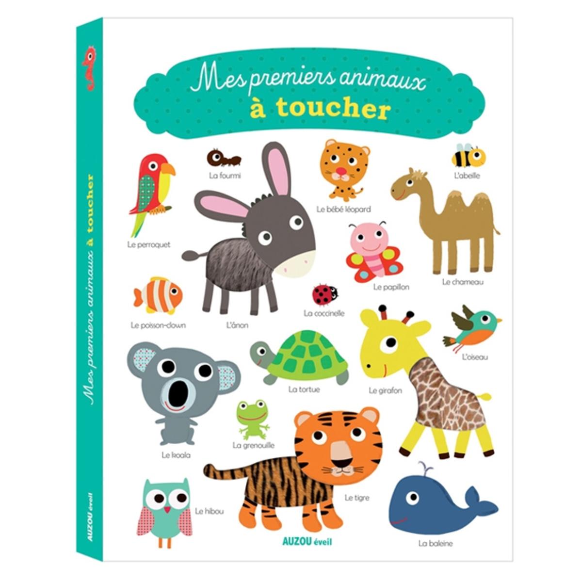 Livre & Carte Mes Premiers Animaux à Toucher Collection Mes Premiers à Toucher
