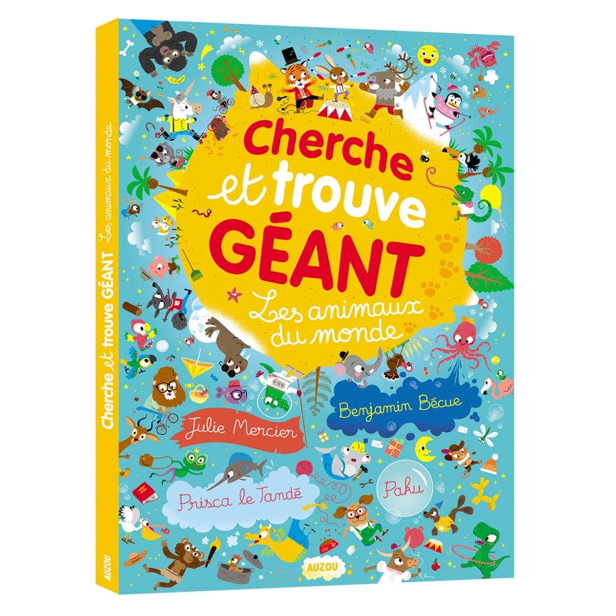 Livre & Carte Les Animaux du Monde Collection Cherche et Trouve Géant