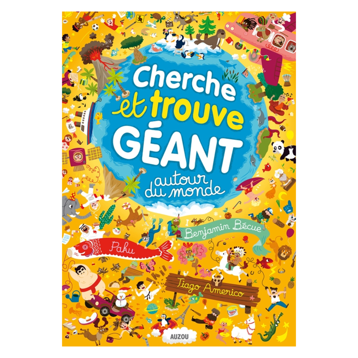 Livre & Carte Autour du Monde Collection Cherche et Trouve Géant