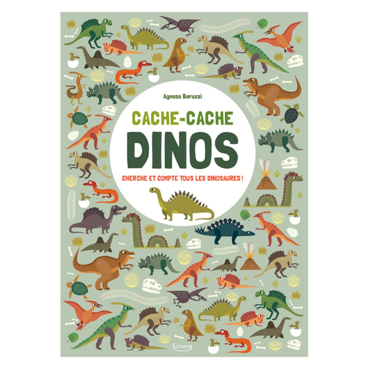 Livre & Carte Cache-Cache Dinos Cherche et Compte Tous les Dinosaures